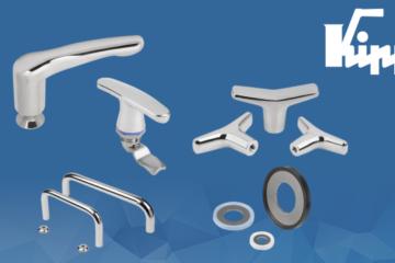 A KIPP amplia a sua linha de artigos com produtos de aço inoxidável e Hygienic DESIGN