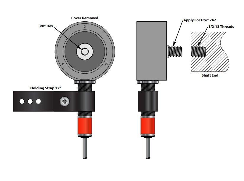 Desenho técnico suporte de montagem EZ-3.4 e EZ-18mm (montagem para eixo roscado)